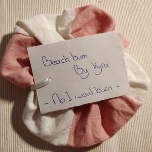 KBBC: scrunchie 'No I won't burn'