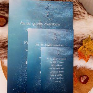 Poster A4 'Als de golven overslaan'