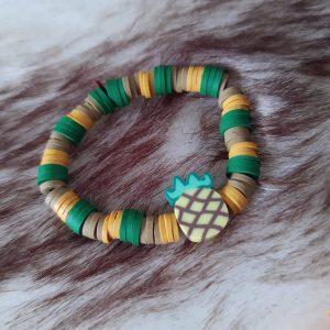 Kids armbandje 'Pineapple' 4-8 jaar