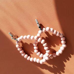 Armband roze met kruisje