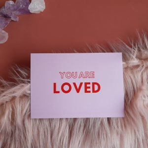 YOU ARE LOVED | roze | set van 5