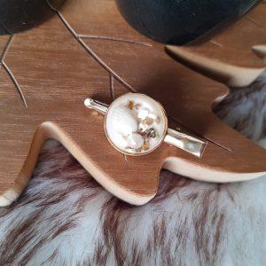 Haarclip (goud) met schelpjes