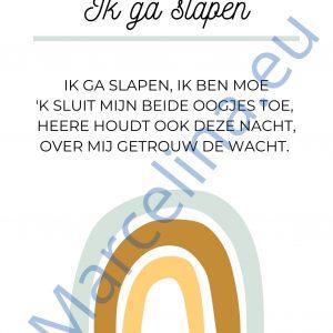 Poster: Ik ga slapen (blauw) || download