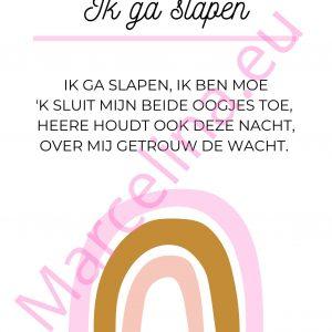 Poster: Ik ga slapen (roze) || download