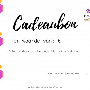 Cadeaubon ter waarde van €25
