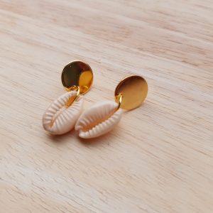 Oorbellen 'Anemone'    Gold plated