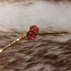 """Haarspeld """"Red Leopard"""""""