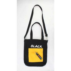 Zwarte tote bag