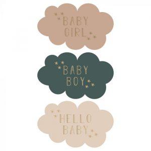 Stickers || baby || 9 stuks