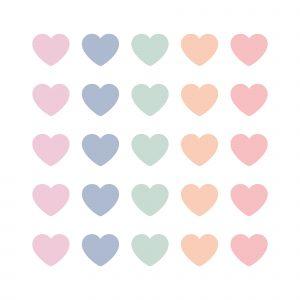 Pastel hartjes || 10 stuks