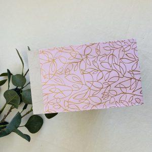 Cadeauzakjes || roze-goud-bloemen || 5 stuks