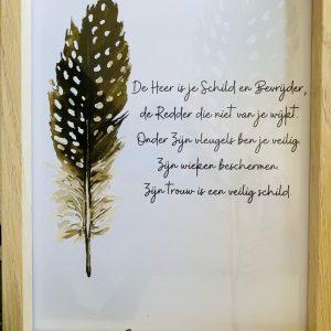 De Heer is je schild || A5 Poster