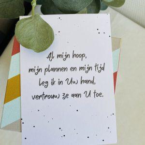 Al mijn hoop, mijn plannen en mijn tijd || losse kaart