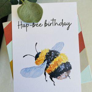 Hap-bee birthday || losse kaart