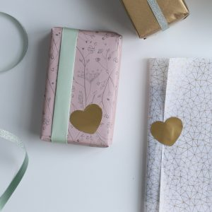 Golden hearts || 9 stuks