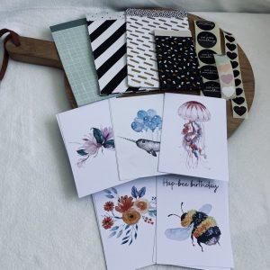 Inpakset #2 || kaarten, cadeauzakjes en stickers