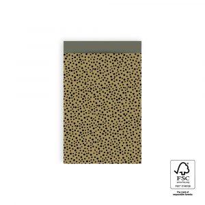 Cadeauzakjes || Moss green black dots || 5 stuks