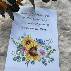 Machtig God || losse kaart